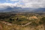 Verbluffend panorama. De gids vertelde over de indianenlegendes over de relaties tussen de vulkanen.