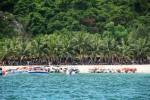 Veel volk op Cham Island