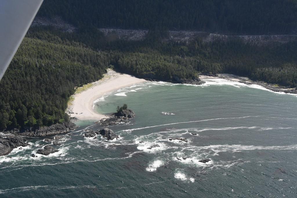 3rd Beach. Daar slaan we ons basiskamp op